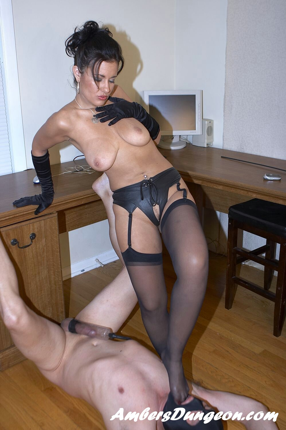 Domina Haley in Crazy Nylons