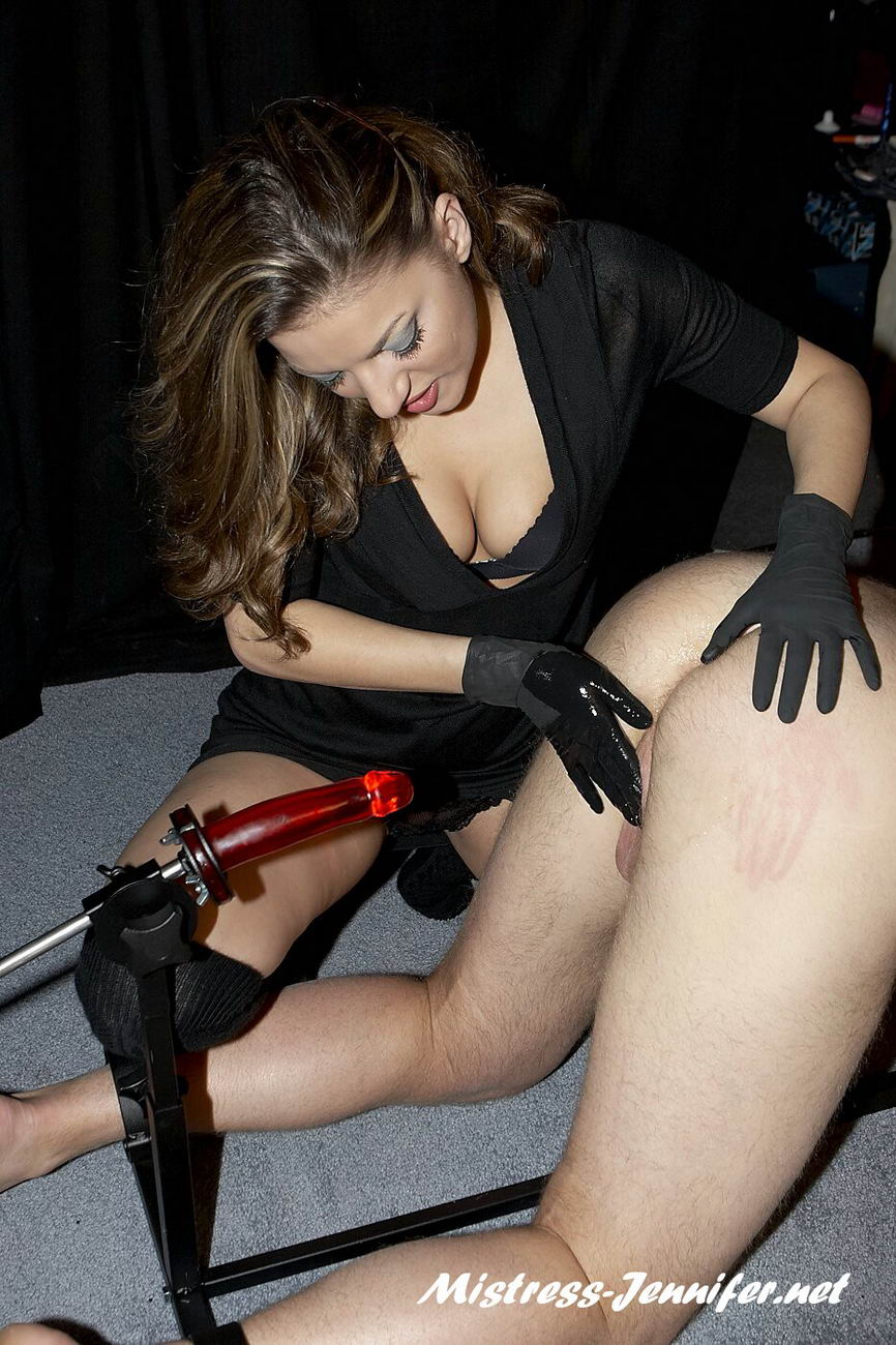 Domina Lydia strapon and masturbating