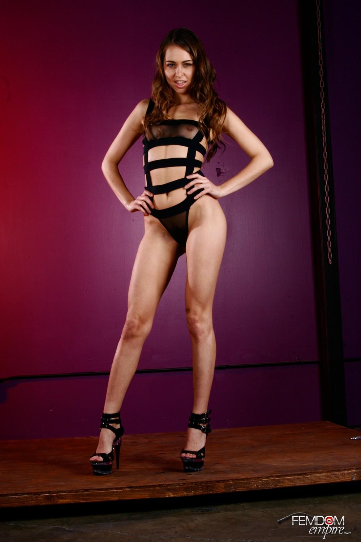 Dominatrix Riley Reid looking spectacular in her lingerie.